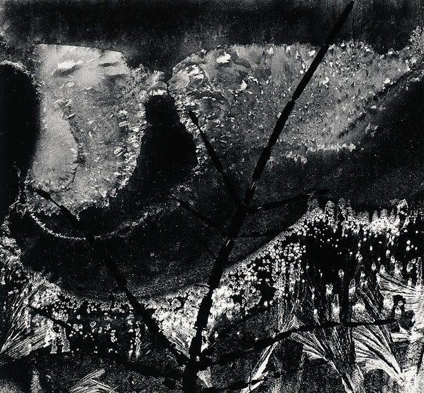 Ritual branch, frost on window, December 8, 1958, (1958 ...