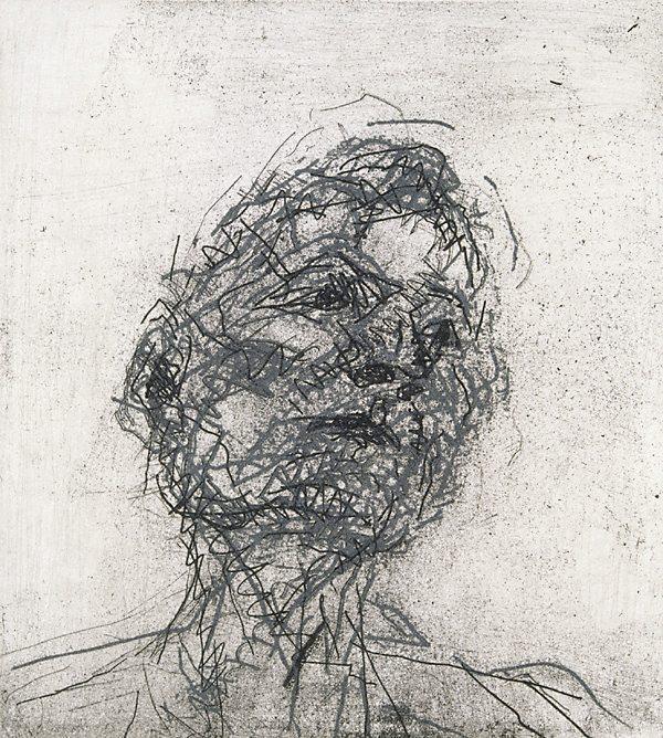 Frank Auerbach Portrait Drawings Freud by Frank Auerbach