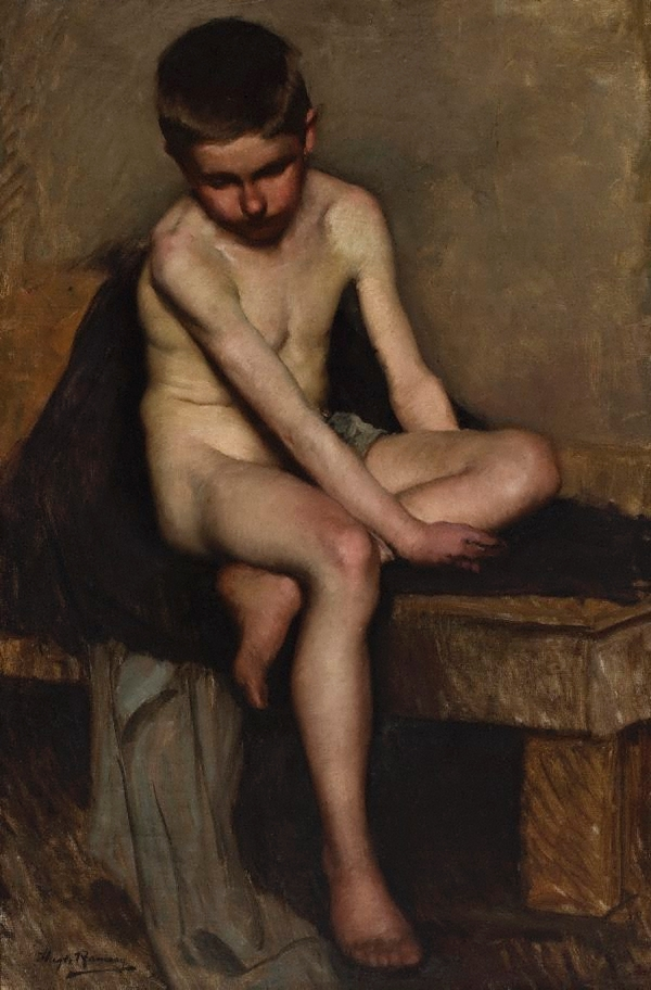 An Image Of Untitled Nude Study A Boy By Hugh Ramsay