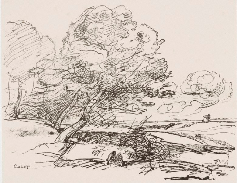 The isolated tower 1871 douze croquis et dessins - Camille dessin ...