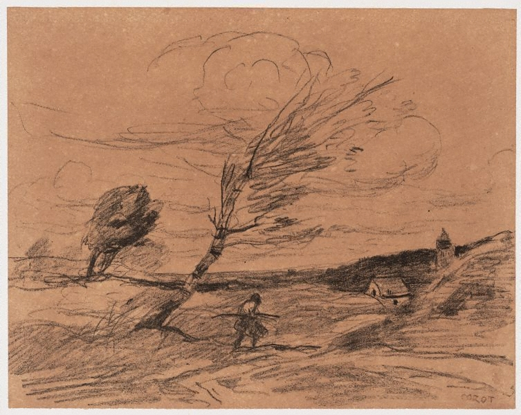 The gust of wind 1871 douze croquis et dessins - Camille dessin ...