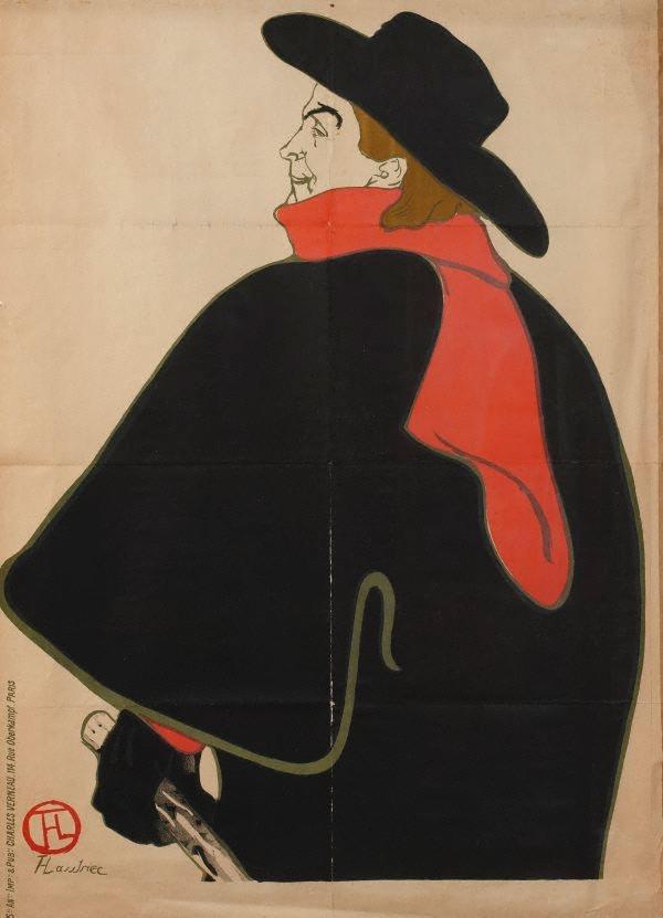 Aristide bruant at his cabaret 1893 by henri de for Toulouse lautrec works