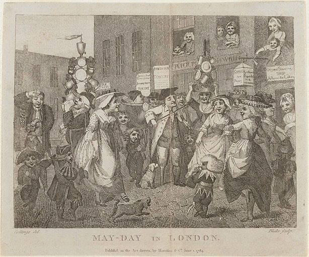 May Day in London, (circa 1784) by William Blake, after Samuel ...