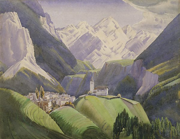 Pieve di Cadore Italy  city pictures gallery : Pieve di Cadore Dolomites Italy , 1929 by Rah Fizelle :: The ...