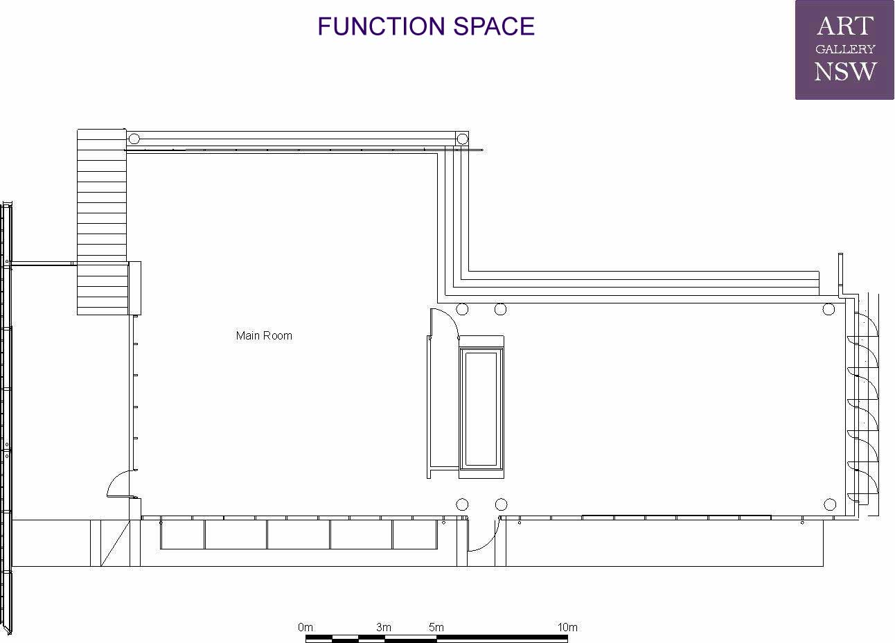 Function space venue hire facilities plan your for Floor function