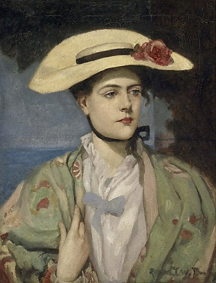 An image of Portrait of the artist's wife by Rupert Bunny