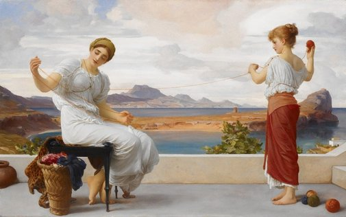 An image of Winding the skein by Lord Frederic Leighton