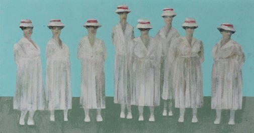 An image of The white platoon by Desmond Digby