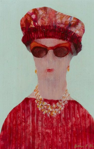 An image of The red sunglasses by Desmond Digby