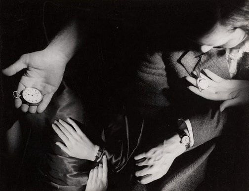 An image of Untitled (hands and watches) by Max Dupain