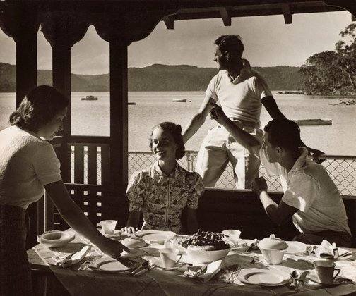 An image of Untitled (luncheon on veranda) by Max Dupain