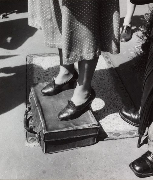 An image of Untitled (standing on a suitcase) by Max Dupain