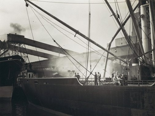 An image of Untitled (loading a ship) by Max Dupain