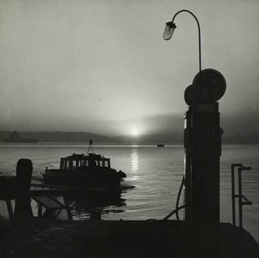 An image of Untitled (sunrise on Sydney harbour) by Max Dupain