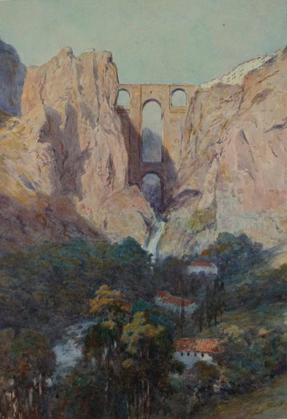 An image of Ronda Gorge, Spain by Charles Nathaniel Worsley