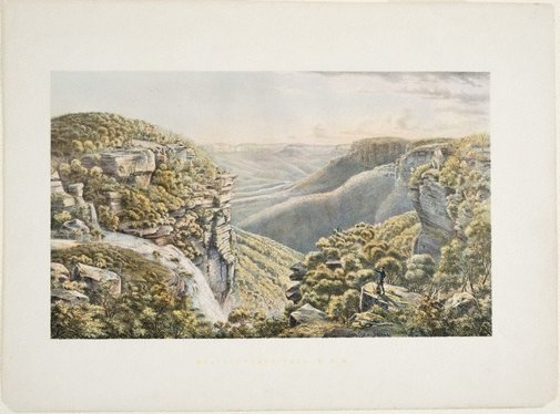 An image of Weatherboard Fall, New South Wales by Eugene von Guérard