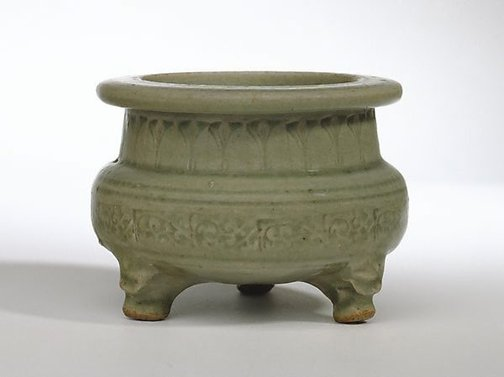 An image of Tripod censer by Yaozhou ware
