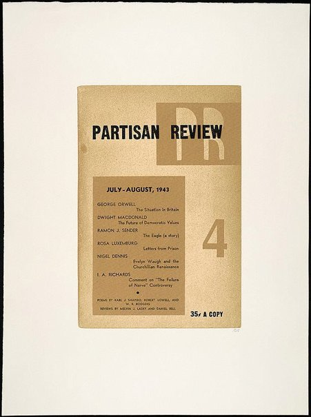 An image of Partisan review by R.B. Kitaj