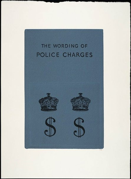 An image of The wording of police charges by R.B. Kitaj
