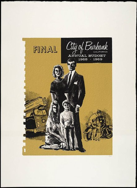 An image of City of Burbank, California, Annual Budget 1968-1969 by R.B. Kitaj