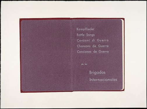An image of Battle songs of the International Brigade by R.B. Kitaj