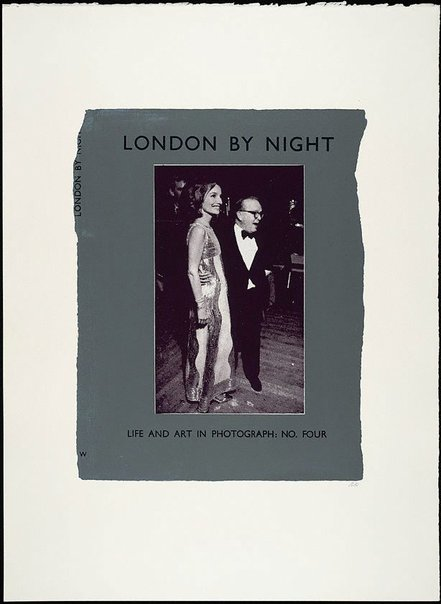 An image of London by night by R.B. Kitaj