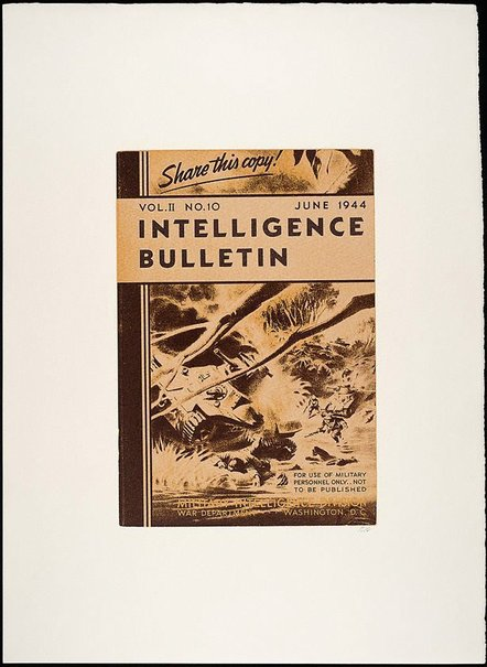 An image of Intelligence Bulletin June 1944 by R.B. Kitaj