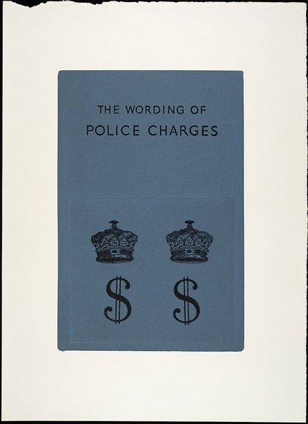 An image of The wording of police charges II by R.B. Kitaj