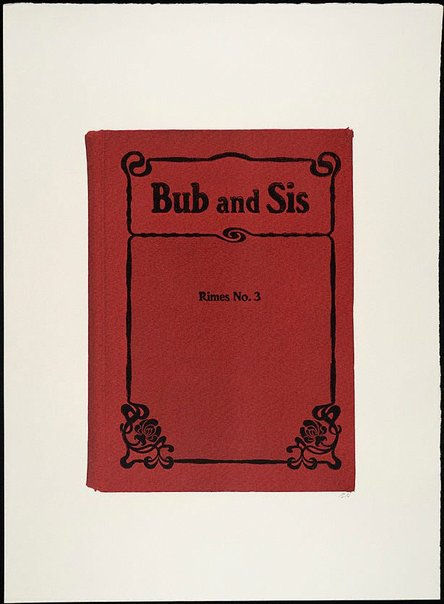 An image of Bub and Sis (Rimes No. 3) by R.B. Kitaj