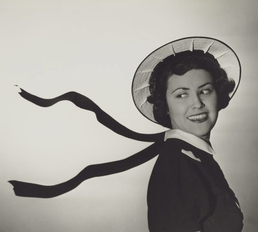 An image of Untitled (fashion illustration: hat advertisement) by Max Dupain