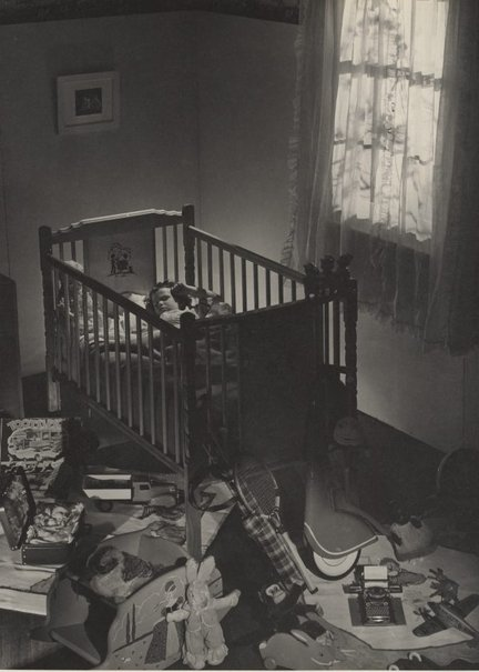 An image of Untitled (child asleep in cot) by Max Dupain