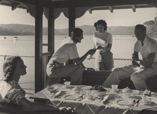 An image of Untitled (luncheon on the verandah) by Max Dupain