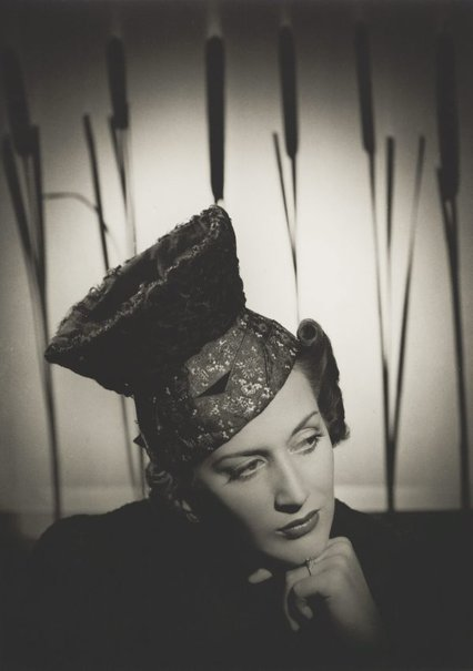 An image of Untitled (fashion illustration: woman wearing hat) by Max Dupain