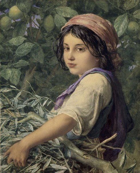 An image of Una fascina di olive by William Charles Thomas Dobson