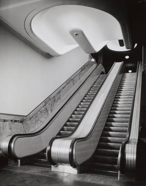 An image of Untitled (escalators) by Max Dupain