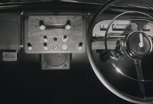 An image of Untitled (car steering wheel) by Max Dupain