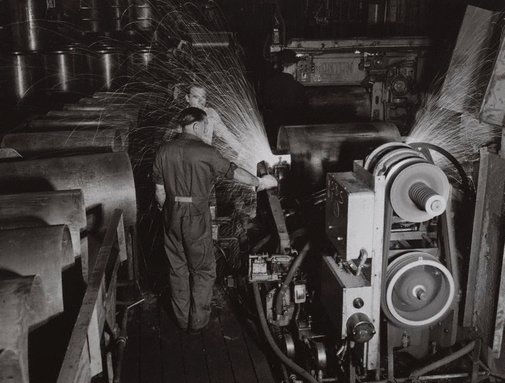 An image of Untitled (steel works) by Max Dupain