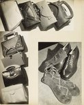 Alternate image of recto: Untitled (Lustre stockings advertisement with woman) verso top: Untitled (advertisement: handbags no 1) verso left side: Untitled (advertisement: handbags no 2) verso right side: Untitled (advertisement: shoes and socks) by Max Dupain