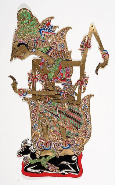 An image of Wayang puppet - Siwa, God of destroyer, from Mahabarata story by