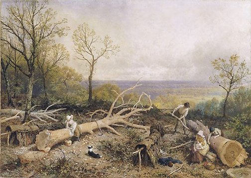 An image of Barking, springtime by Myles Birket Foster