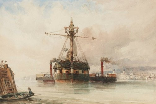 An image of On the Thames by John Callow