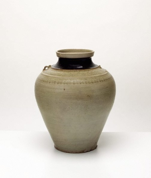 An image of Jar with four horizontal bands of decoration by