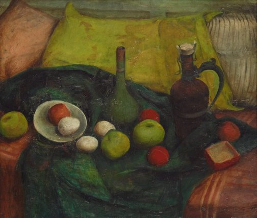 An image of Still life in green by Margaret Olley
