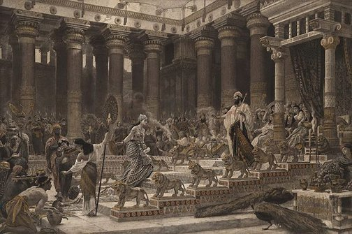 An image of The visit of the Queen of Sheba to King Solomon by Unknown, after Sir Edward Poynter