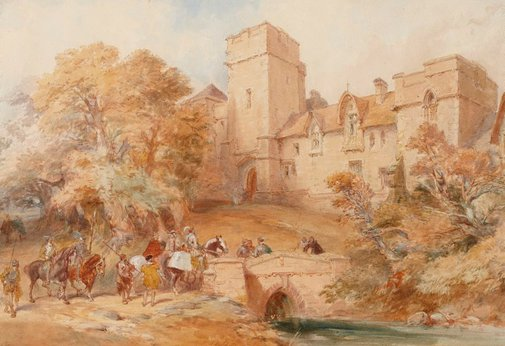 An image of Mediaeval scene by Charles Cattermole
