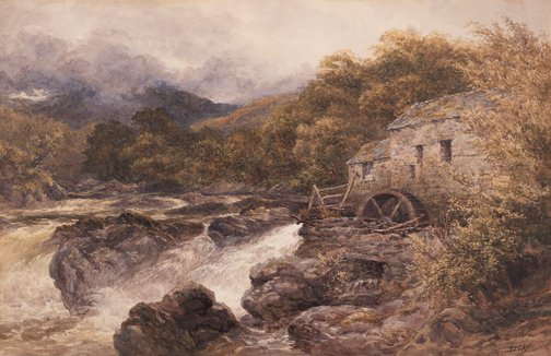 An image of The old mill, Betws-y-Coed by David Law