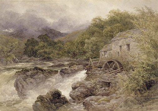 An image of The old mill, Bettws-y-Coed by David Law