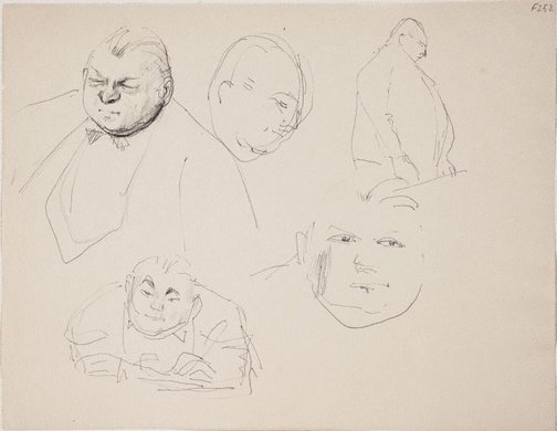 An image of (Studies of a man) (Late Sydney Period) by William Dobell