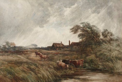 An image of A summer squall by David Cox