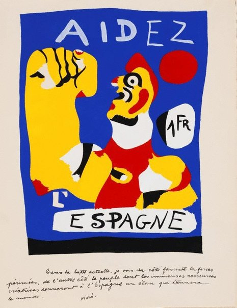 An image of Aidez l'Espagne by Joan Miró